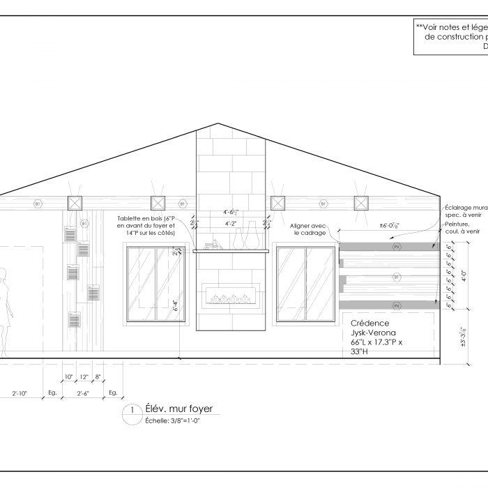 Ensemble de plan 2D – Rénovation de garage