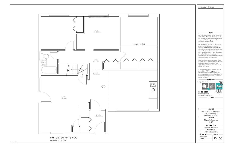 Ensemble de plan 2D - Maison - Mélina Desjardins, designer d'intérieur