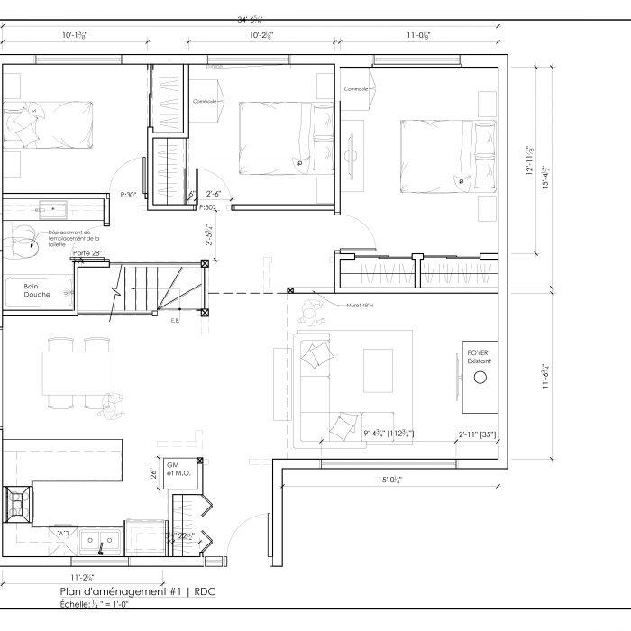 Ensemble de plan 2D – Maison