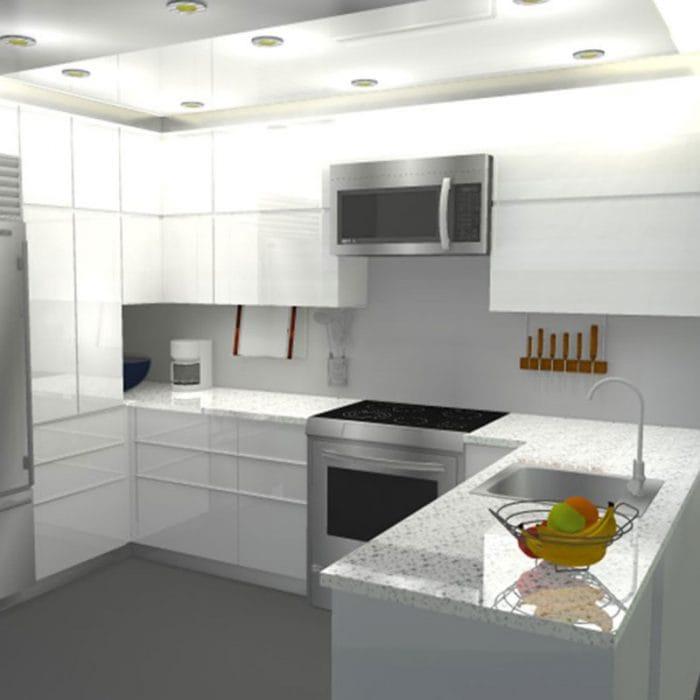 Modélisation 3D d'une rénovation de cuisine